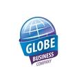 Earth logo template Globe sign vector image vector image