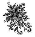 black white flower lace eyelets design element vector image
