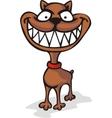 Malicious dog vector image