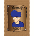 Posters of a wanted bandit vector image