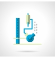 Chemical lab equipment flat color icon vector image