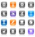 Multicolored buttons for science vector image vector image