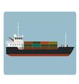 Dry cargo ship vector image