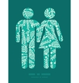 emerald green plants couple in love vector image