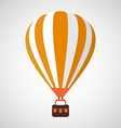 Isolated Cartoon Retro Air Balloon Background vector image
