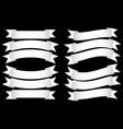 Ribbon Banner White vector image