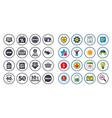 set of shopping sale and discounts icons vector image