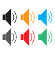 speaker icon volume icon speaker icon on white vector image