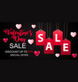 valentines day sale discount card vector image