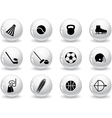 Web buttons sport equipment icons vector image vector image