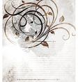 Vintage Floral Design in Dark Tones vector image