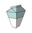 box carton milk juice shadow vector image