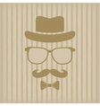Hipsters hat glasses moustache vector image vector image