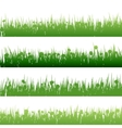 Grass and plants detailed silhouettes EPS 10 vector image