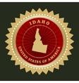 Star label Idaho vector image