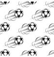 Soccer ball speeding through the air vector image vector image