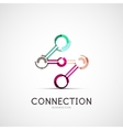 Connection icon company logo business concept vector image