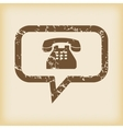 Grungy phone message icon vector image