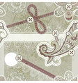 seamless vintage scrapbooking vector image vector image