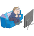 TV viewer vector image