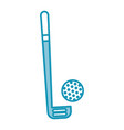 blue golf club and ball vector image