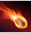 Burning football vector image
