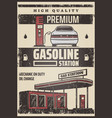 colored fuel station poster vector image