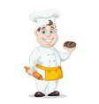 cook with a rolling pin vector image