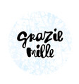 grazie mille hand lettering phrase vector image