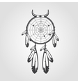 Indian Dream catcher isolated on white background vector image