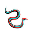 multi-colored garter snake with tongue out vector image
