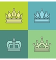 Light crown icons on color background vector image