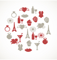 Romantic icons vector image vector image