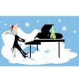 Winter concert vector image