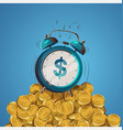 alarm clock dollar vector image