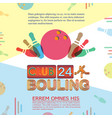 Bowling tournament poster or flyer abstract vector image