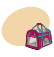 pet travel fabric carrier bag for transporting vector image