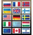 postmark flag vector image