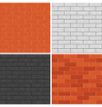 Seamless brick wall patterns vector image vector image