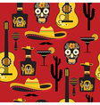 Seamless mexican pattern vector image