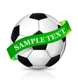 Soccer ball with ribbon vector image vector image