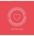 Line heart design logos and icons elements for vector image
