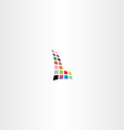 letter l colorful halftone square vector image