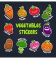 Funny cartoon plant characters vector image
