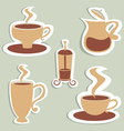 coffee and tea designs vector image