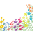 basic flowers vector image vector image