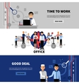 Business People 3 Flat Banners Set vector image