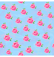 Flowers stylized roses seamless background vector image vector image