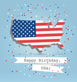 Usa greetings postcard vector