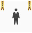 businessman web icon vector image